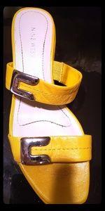 Yellow Nine West Sandals